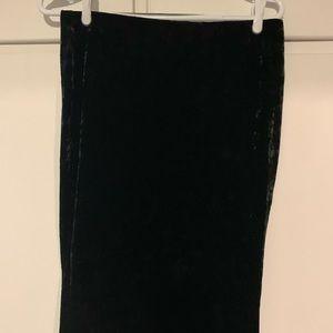 New long black velvet skirt large from Forever21